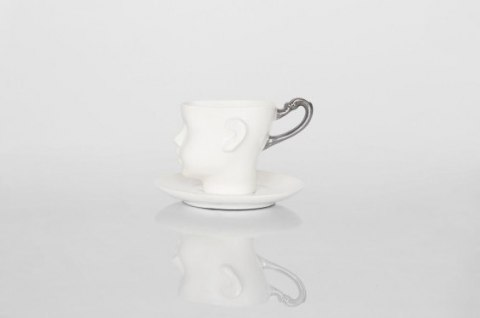 Doll head mug with platinium handle