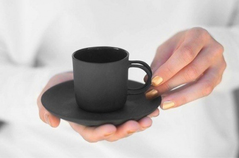 A cup of black espresso
