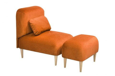 Armchair Yupi with footstool