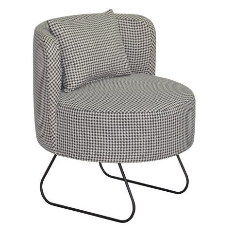 Armchair LEVER houndstooth