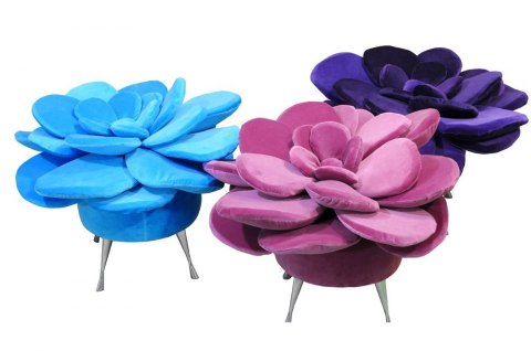 Pouf Summer Flower