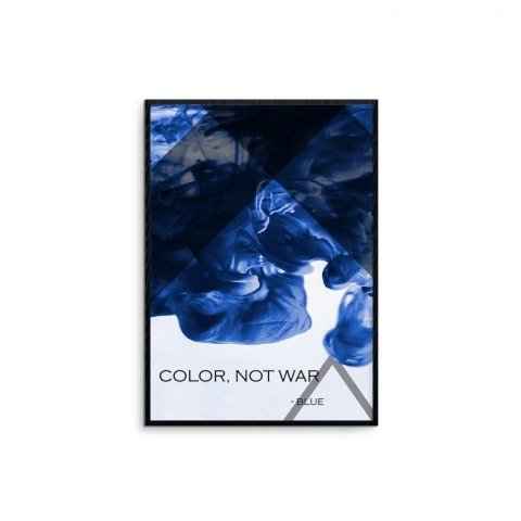 "Framed graphics ""Blue - color not war"""