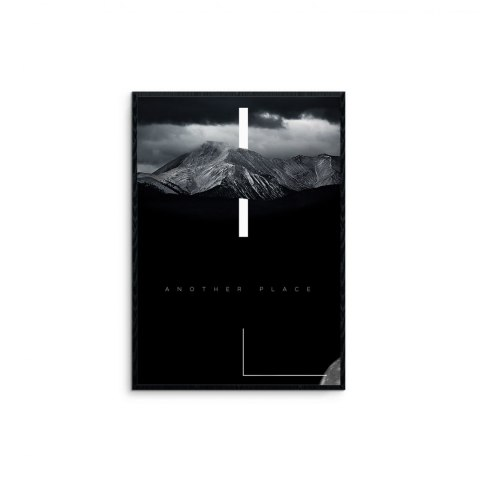 "Framed graphics ""mountains - black"""