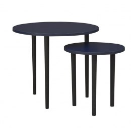 Set of 2 coffee tables Plum