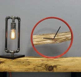 Wood Clock Red