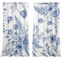 Cotton curtains Blue Flower
