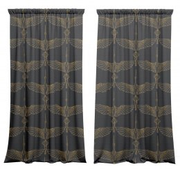 Cotton curtains Cranes 2